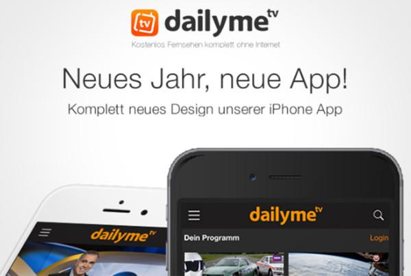 Neues Jahr, Neue App und ein jubelndes dailyme TV Team