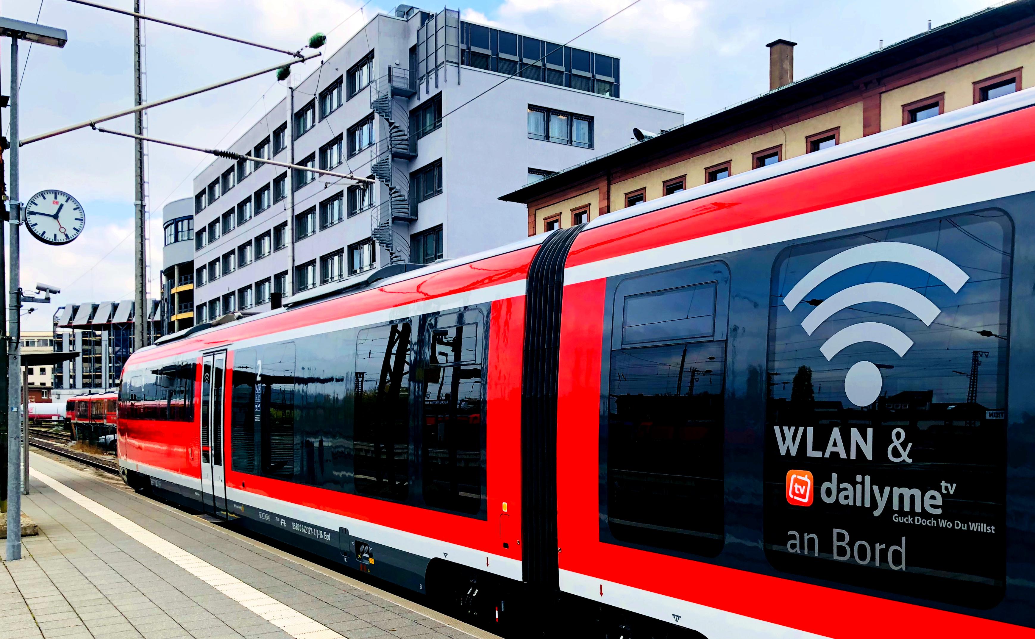 dailyme TV in der Regionalbahn